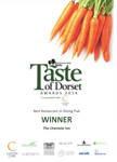 Taste Of Dorset Winner 2014